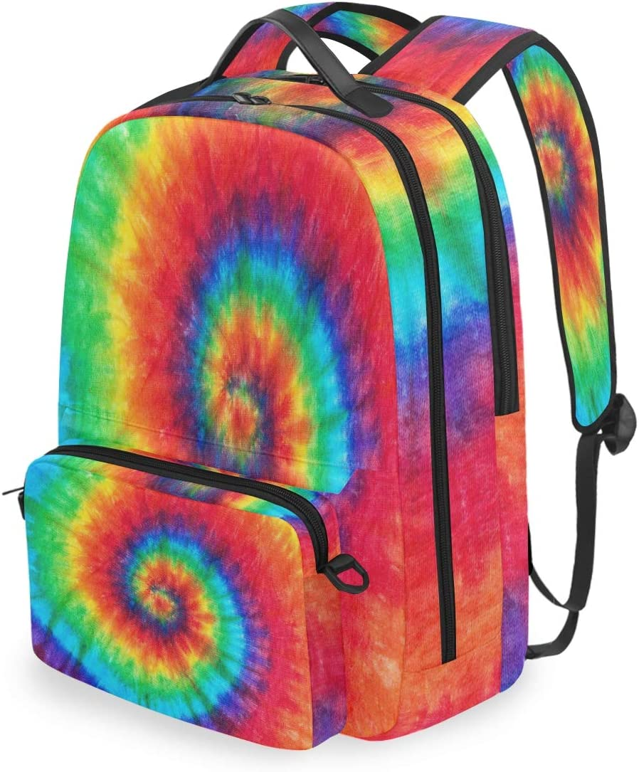AUUXVA Backpack Detachable 100% quality Selling rankings warranty Colorful Rainbow Dye Spiral Patte Tie