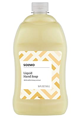Solimo Liquid Hand Soap Refill, Milk and Honey Scent