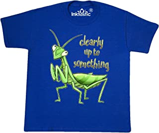 inktastic Praying Mantis- Clearly Up to Something Youth T-Shirt