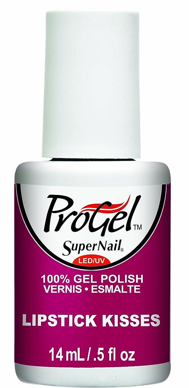 意識下に分散SuperNail ProGel Gel Polish - Lipstick Kisses - 0.5oz / 14ml