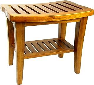 Redmon 5323 Teak Collection Bench, 20 x 13.5 x 17.5 Height