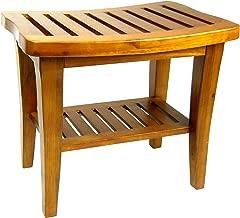 Redmon 5323 Collection Teak Bench, 20 x 13.5 x 17.5 Height