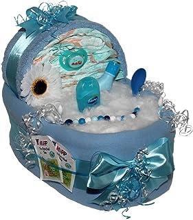 Windelpizza Kuscheltuch Sch/äfchen Mia f/ür M/ädchen Geschenk zur Geburt Windeltorte Taufe oder Babyparty