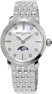 Frederique Constant - FC-206MPWD1S6B - Reloj para Mujeres, Correa de Acero Inoxidable Color Plateado