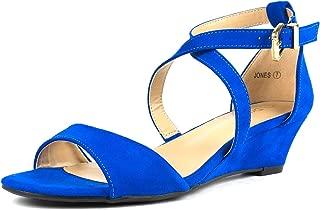 royal blue sandals wedge