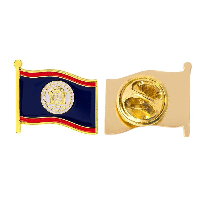 Belize Country Flag Lapel Pin Enamel Made of Metal Souvenir Hat Men Women Patriotic (Waving Flag Lapel Pin)
