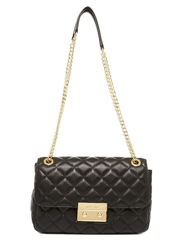 貫入略奪ハンディキャップMICHAEL Michael Kors Sloan Large Chain Shoulder Bag Black 30S6GS7S2L-001