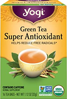 Yogi Tea - Green Tea Super Antioxidant (6 Pack) - Organic Green Tea Blend to Support Overall Health - 96 Tea Bags