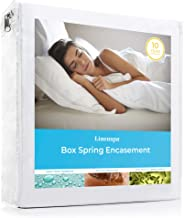 LINENSPA Waterproof Bed Bug Proof Box Spring Encasement Protector - Blocks out Liquids, Bed Bugs, Dust Mites and Allergens - Queen