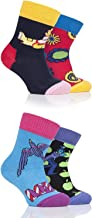 Happy Socks, Colorful Premium Cotton Gift Box For Kids, The Beatles, 12-24M