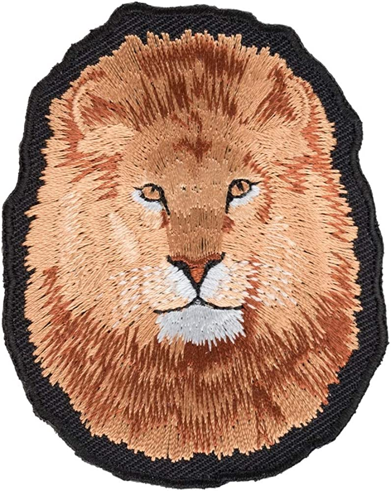 Mesa Mall Lion Face Close Up Patch shipfree Jungle Animals Patches Wild