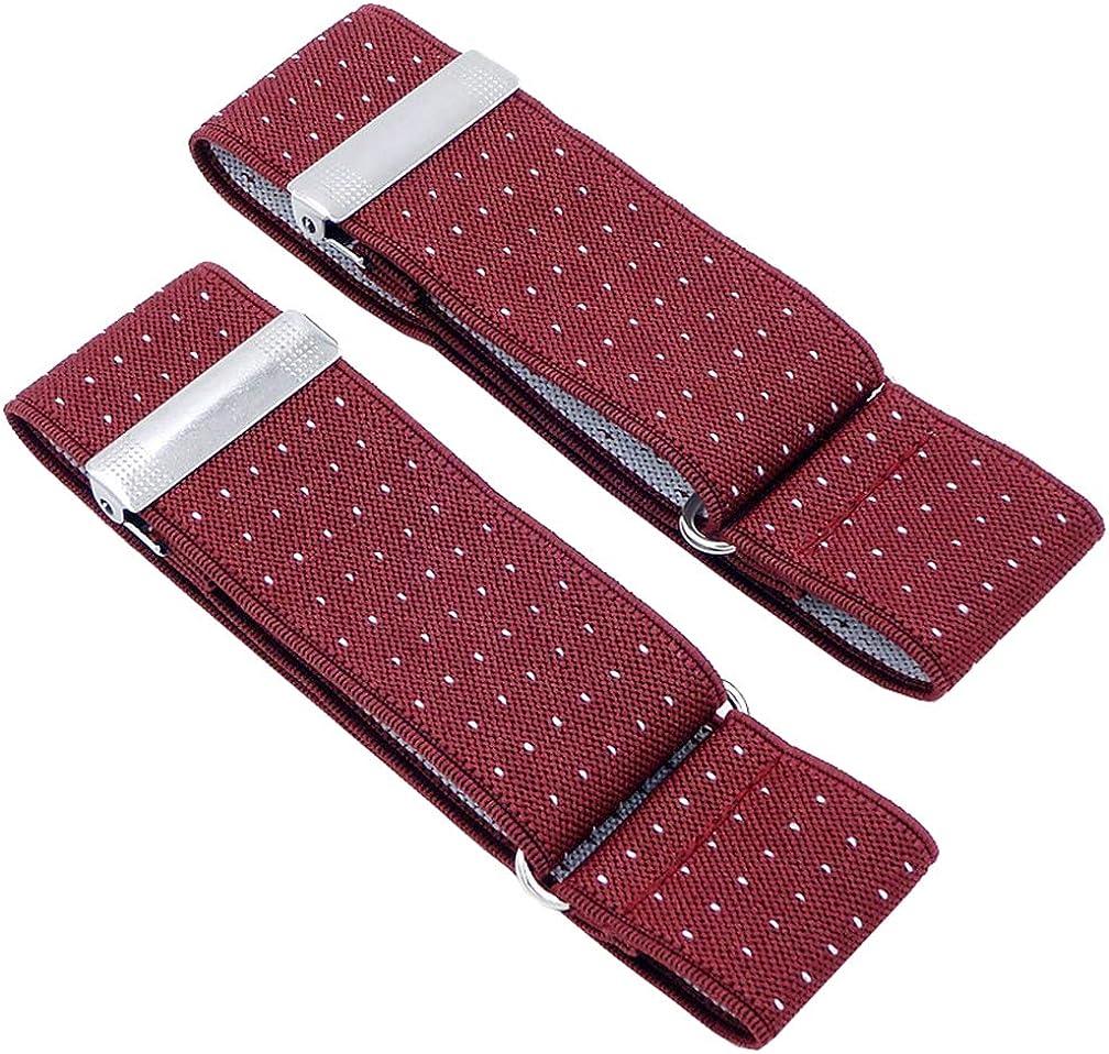 AYOSUSH Elastic Mens Shirt Garters Sleeve Holders Armband Business 1.4 Inch Wide