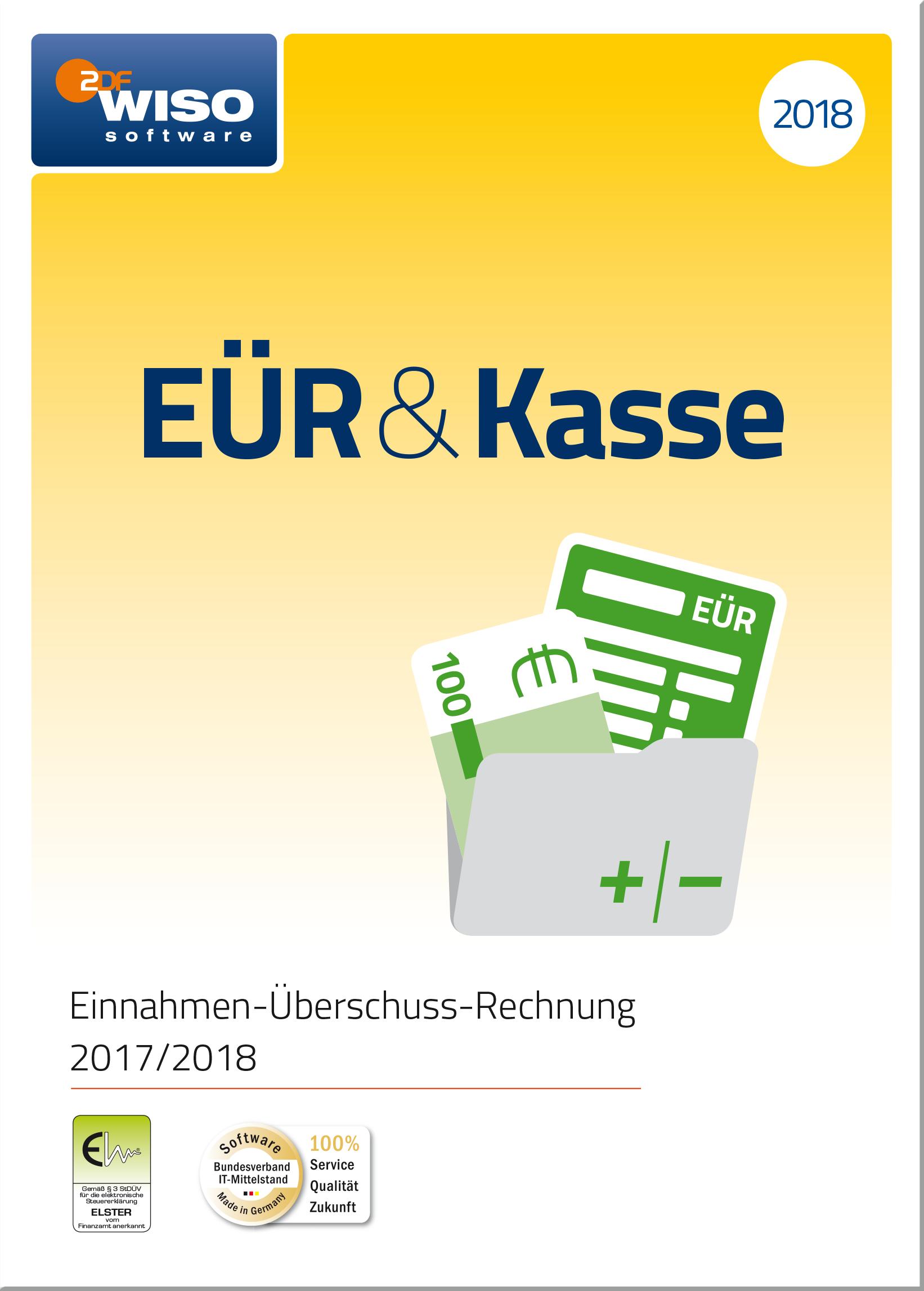 WISO EÜR & Kasse 2018: Für die Einnahmen-Überschuss-Rechnung 2017/2018 inkl. Gewerbe- und Umsatzsteuererklärung [Online Code]