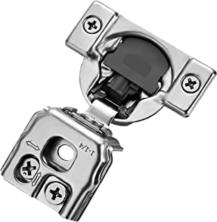 Ravinte 20 Pack 10 Pairs 1-1/4 inch Overlay Soft Close Hinges for Kitchen Cabinet Hinges Satin Nickel Hidden Hinges Stainl...