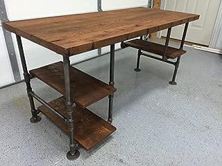 Reclaimed Wood Desk Table - Rustic Solid Oak W/ 28