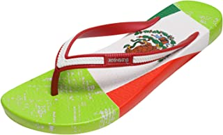 Ish Original Official Mexico Flag Women Flip-Flop Sandal Slipper