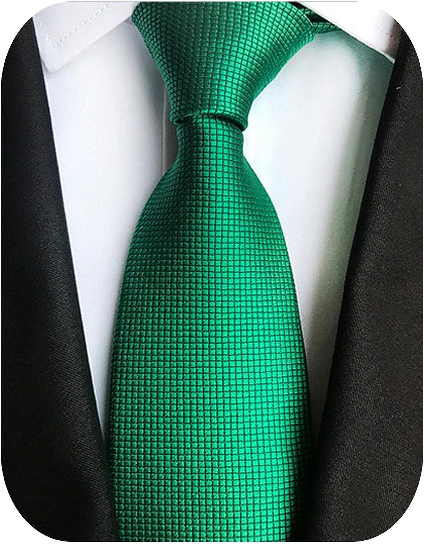 New Silk 8cm Formal Tie Grey Bule Striped Solid Jacquard Necktie Checkered Men Business Wedding Ties Gravata Accessoeries