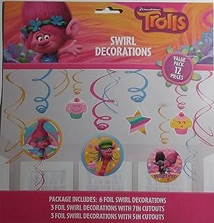 DreamWorks Trolls 12 Piece Swirl Party Decorations