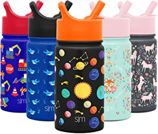 Simple Modern 14oz Summit Kids Water Bottle Thermos with Straw Lid - Dishwasher Safe Vacuum Insulated Double Wall Tumbler Travel Cup 18/8 Stainless Steel Solar System