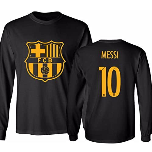 KING THREADS Barcelona Soccer Shirt Lionel Messi  10 Futbol Jersey Men s  Long Sleeve T- 2ee12ac1d