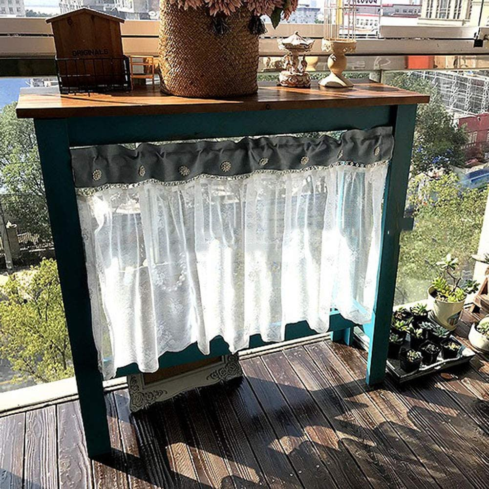 Kitchen Short Curtains Lace Bombing free shipping Tier Semi Trust Windo Curtain Half Sheer