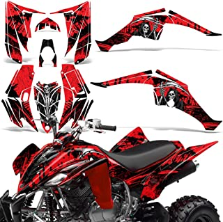 Yamaha Raptor 350 2004-2014 Decal Graphic Kit Quad ATV Wrap Deco Racing Parts REAPER RED