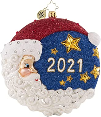 Christopher Radko Hand-Crafted European Glass Christmas Decorative Figural Ornament, The First Star I See Tonight 2021