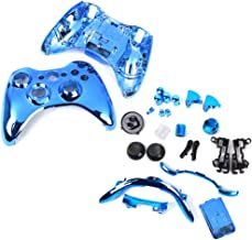 Full Housing Shell Case Parts For Xbox 360 Wireless Controller -Chrome Blue