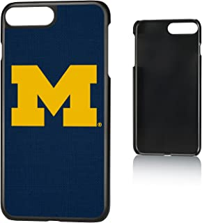 Keyscaper NCAA Michigan Wolverines Apple iPhone Slim Case, iPhone 8 Plus / 7 Plus / 6 Plus, Black