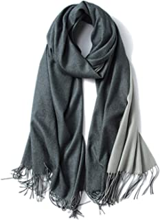 Wool Scarf For Men Women Fashion Cashmere Scarves With Tassel Warm Solid Stole