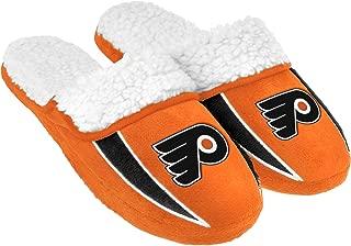 FOCO NHL Mens Team Logo Sherpa Slippers