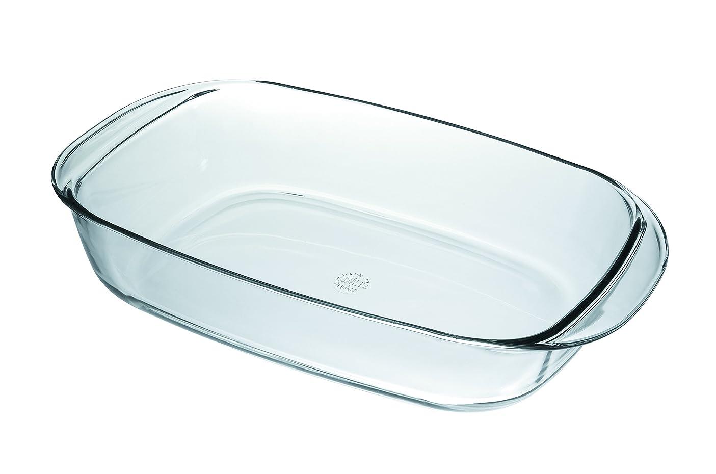 文明寛大な実際に(38cm x 23cm) - Duralex 38 x 23 cm Oven Chef Rectangular Roaster, Transparent