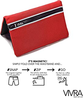 Bum Bag Belt-Free Waist Bag | Fashionable Fanny Pack | Magnetic Running Bag | RFID Wallet | Attachable Waist Pouch for Fitness, Travel | Two Sizes iPhone,Samsung and Google Phones