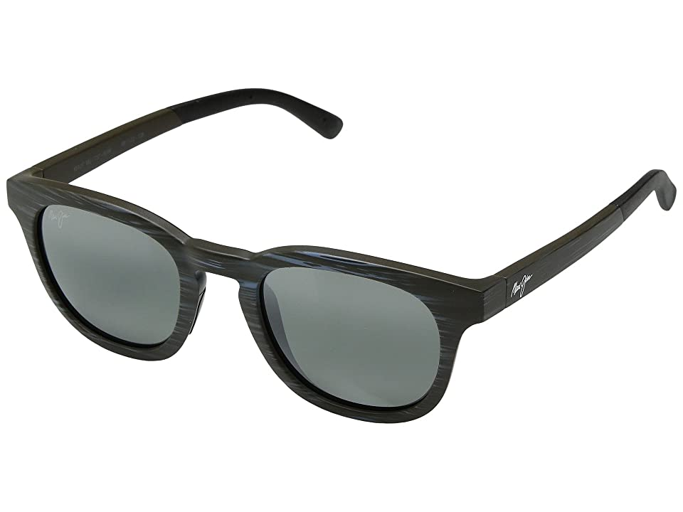 Maui Jim Koko Head (Matte Aquamarine Wood Grain/Neutral Grey) Sport Sunglasses