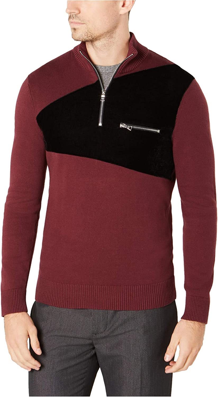 I-N-C Mens Rebel Varsity Pullover Sweater