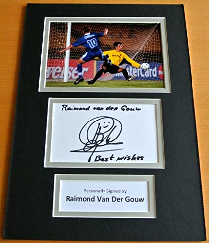 Sportagraphs RAIMOND VAN DER GOUW HAND SIGNED AUTOGRAPH A4 PHOTO DISPLAY homme UNITED GIFT COA