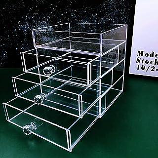 Jewelry Rack شفافة درج مقصورة تخزين مربع الأكريليك مستحضرات التجميل الرف للأقراط، قلادة، أحمر الشفاه، مربع عرض المجوهرات J...