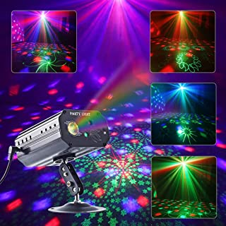 Laser Lights,CHINLY Upgraded Party Lights LED Projector RGB Stage Rotating Lights Strobe Light Disco Stage Lights for Stage Performance Dance Party Club Birthday Karaoke(Background Version)