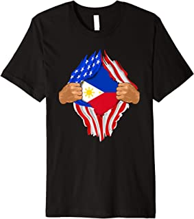 Filipino Blood Inside Me T-Shirt | The Philippines Flag Gift