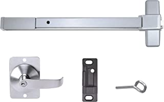 Push Bar Panic Exit Device, Aluminum, with Exterior Lever