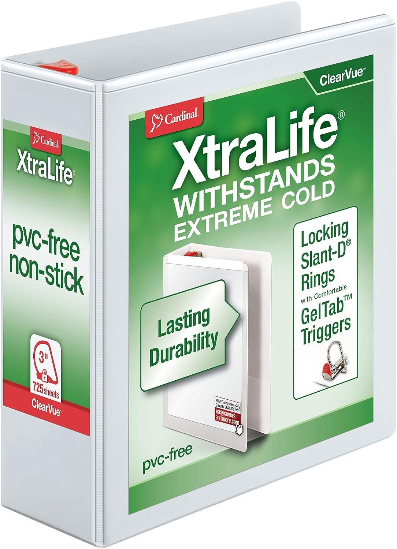 Cardinal 3 Sales Ring 35% OFF Binder inch Duty Heavy XtraLife Locki