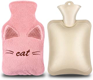 Designd for Bed Waist Warm Back Neck Legs Thermotherapy,Pure Natural Rubber,2L 72X12 cm Bestevery Extra Long Hot Water Bottle with Super Soft Plush Fabric Cover