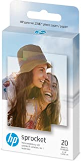 """HP 1AH01A Wireless ZINK 2x3"""" Sticky-Backed Photo Paper,20 sheets,20 sheet/white"""