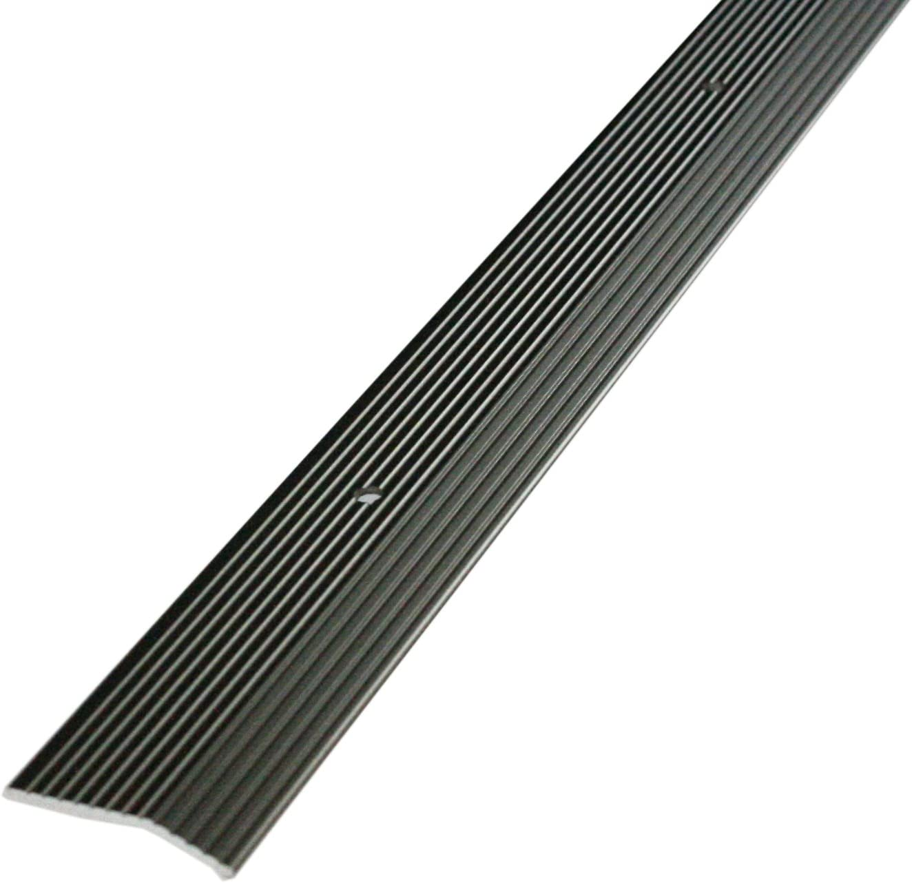 36 in L X 1-3//8 in W M-D Building Products 43854 M-D Wide Fluted Carpet Trim Pewter, Aluminum Pack of 1