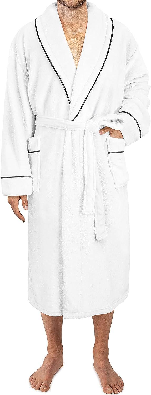 Max 50% OFF PAVILIA Mens Fleece Limited price Robe Soft Warm Bathrobe for Plush Spa Men
