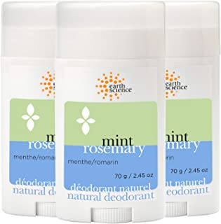 EARTH SCIENCE - All-Natural Mint and Rosemary Aluminum Free Deodorant (3pk, 2.45 oz.)
