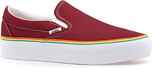 Vans Classic Slip-on Platform Chaussures Chaussures Chaussures DE Sport Femme Rouge VN0A3JEZS1U1 1ff