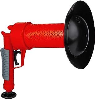 ONVAYA® Limpiador de tuberías de aire comprimido | Pistola mecánica de limpieza de tuberías con aire comprimido | Sin químicos | Para el inodoro, la ducha y el lavabo | rojo