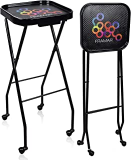 Framar Premium Salon Folding Trolley - Salon Trolley, Salon Tray, Salon Cart Folds up for easy storage