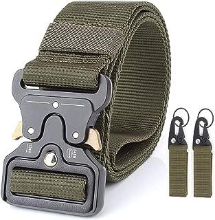 1.7″ Military Tactical Belts,Heavy Duty Gun & Work Belt, Quick-Release Webbing Nylon Belts with Metal Buckle